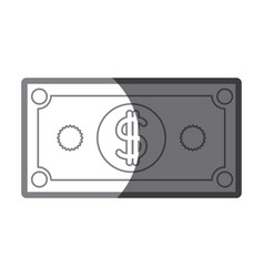 Grayscale silhouette of dollar bill vector