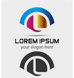 Letter L Logo Design Creative Symbol of letter L vector image vector image