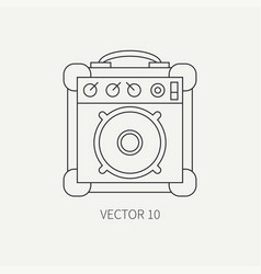 Line flat icon musical equipment - guitar vector