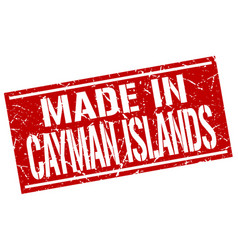 Made in cayman islands stamp vector