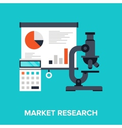 Market Research vector image vector image