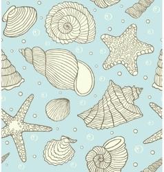 Ocean shells vector