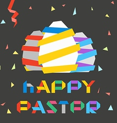 Paper Easter eggs Happy Easter greetings vector image vector image
