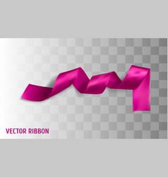 pink realistic silk ribbon vector image
