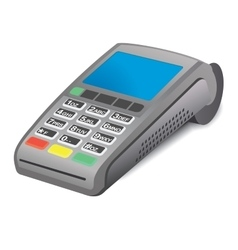 Pos terminal on white background vector