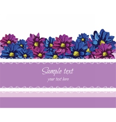 Purple Lace Greeting Card vector image