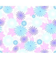 Seamless flower pattern on white background EPS10 vector image