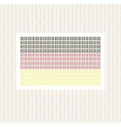 The German flag from lines against gold decorative vector image vector image