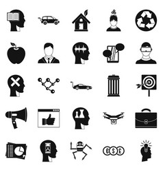 Think icons set simple style vector