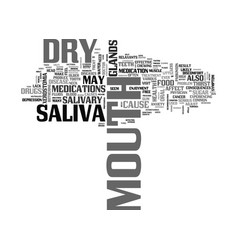 when your mouth spells dry text word cloud concept vector image vector image