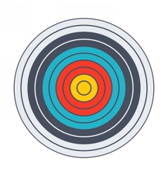 Classic archery target vector