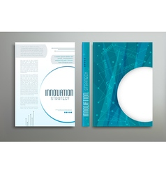 Blue template cover for business vector