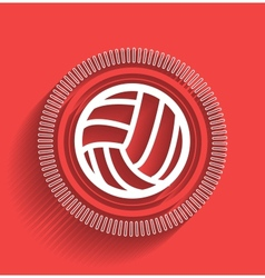 Volleyball icon flat modern design vector