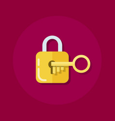 identity or logon icon padlock with a key in a vector image