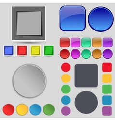 Big set of different colored buttons trendy modern vector