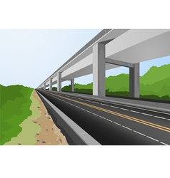Highway to city vector