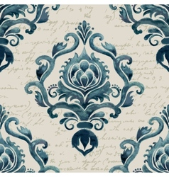 Damask seamless pattern element elegant luxury vector