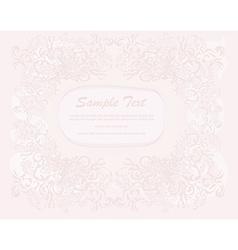 Romantic invitation card vector
