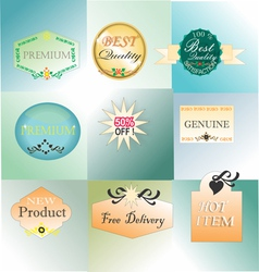 Product stamp label and sticker vector