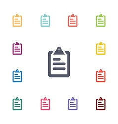 List flat icons set vector