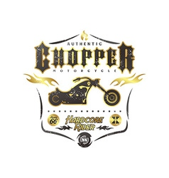 Chopper motorcycle vector