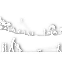 park cutout vector image