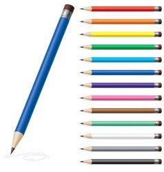 Color pencils set vector