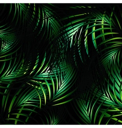 Jungle night background vector