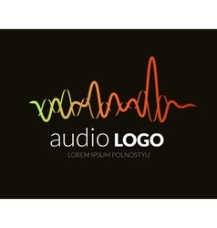 Logo sound wave studio music dj audio system vector