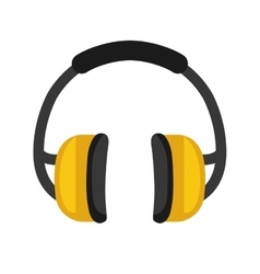 Headphones icon industrial security design vector