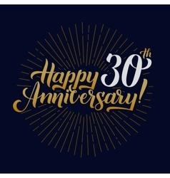 Happy Anniversary Calligraphic and Starburst vector image