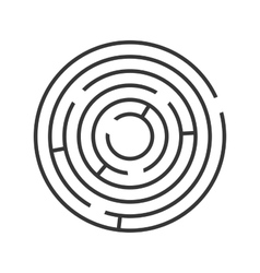 Circle ring maze on white background vector