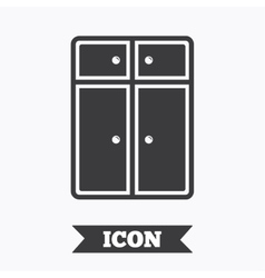 Cupboard sign icon modern furniture symbol vector