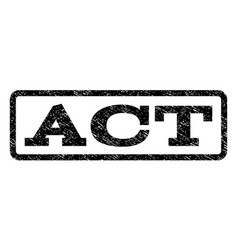 Act watermark stamp vector