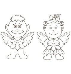 angels vector image vector image