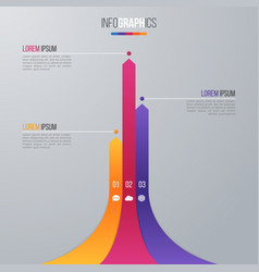 Bar chart infographic template for data vector