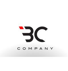 Bc logo letter design vector