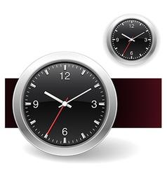 Black Clock Icons vector image
