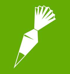 Cotton icing bag icon green vector