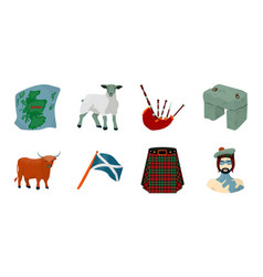 country scotland icons in set collection for vector image
