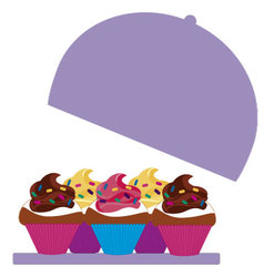 cupcakes colored 4 vector image vector image
