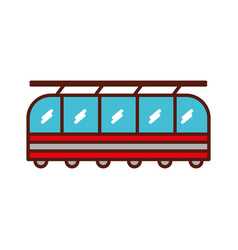 Cute train cartoon vector