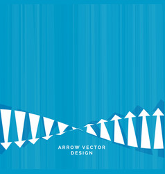 Downfall and rise arrow concept design for vector