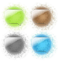 Glass Speech Bubbles Set vector image