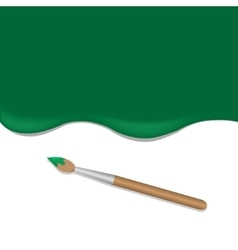 Green background with brush vector