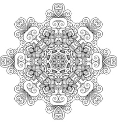 Intricate geometric symmetrical pattern vector
