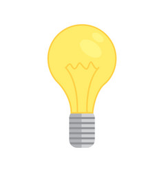 Lamp bulb icon new idea isolated vector