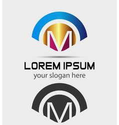 Letter M Logo Design Creative Symbol of letter M vector image vector image