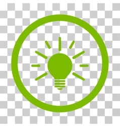 Light bulb rounded icon vector