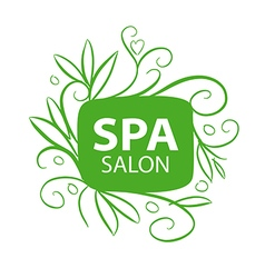 logo floral ornament for the spa salon vector image